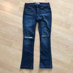 Abercrombie & Fitch Bootcut Ripped Jeans